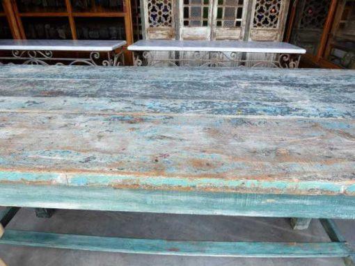 Vintage green wooden bar table-3