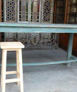 Vintage green wooden bar table-4