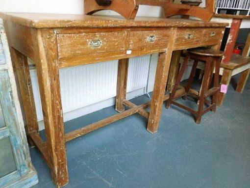 Massief houten sidetable met laden-2