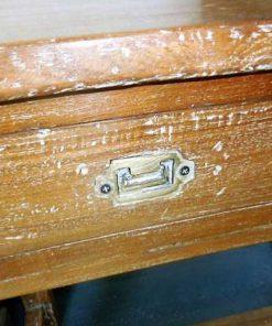 Massief houten sidetable met laden-4