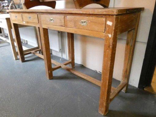 Massief houten sidetable met laden-5