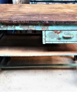 Vintage turquoise worktable-1