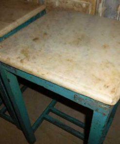 Vintage blue sidetable-2
