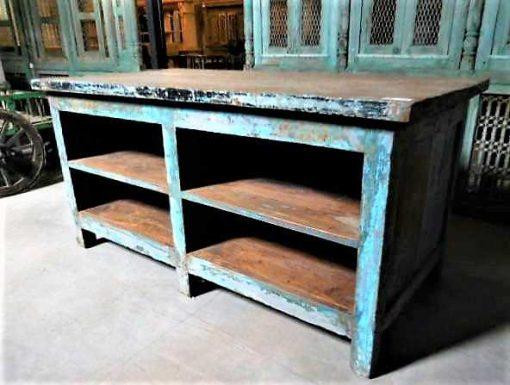 Vintage teak high plants table / stool-2