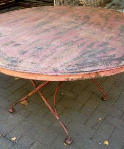 Vintage ronde opklapbare tafel-1