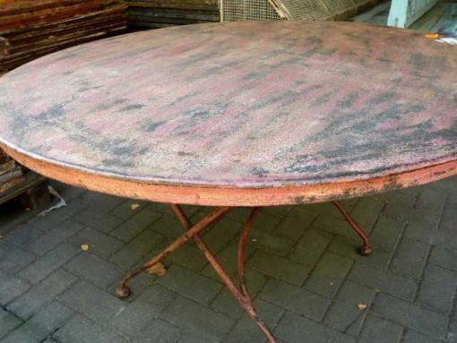 Vintage ronde opklapbare tafel-2