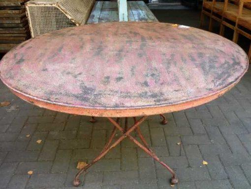 Vintage ronde opklapbare tafel-3
