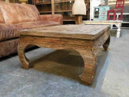 Opium salon table made of coarse wood-1