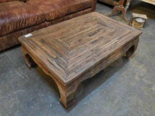 Opium salon table made of coarse wood-2