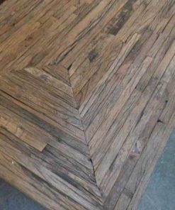 Opium salon table made of coarse wood-4