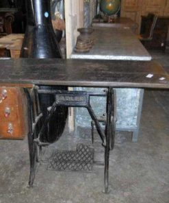 Table made of antique sewing machine base-1