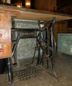 Table made of antique sewing machine base-3
