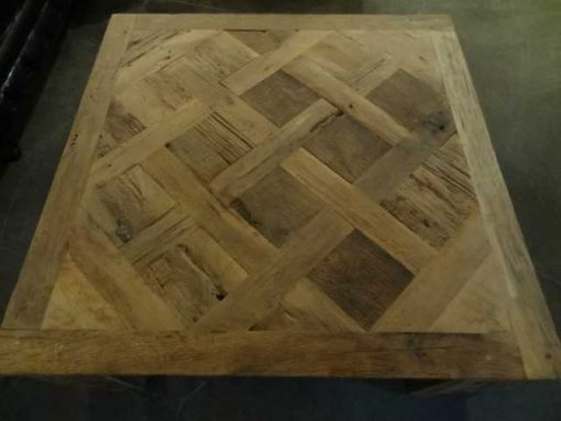 Oak inlay coffee table-3