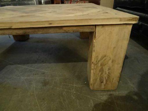 Oak inlay coffee table-4