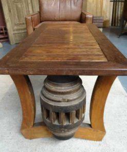 Cart wheel coffee table -4