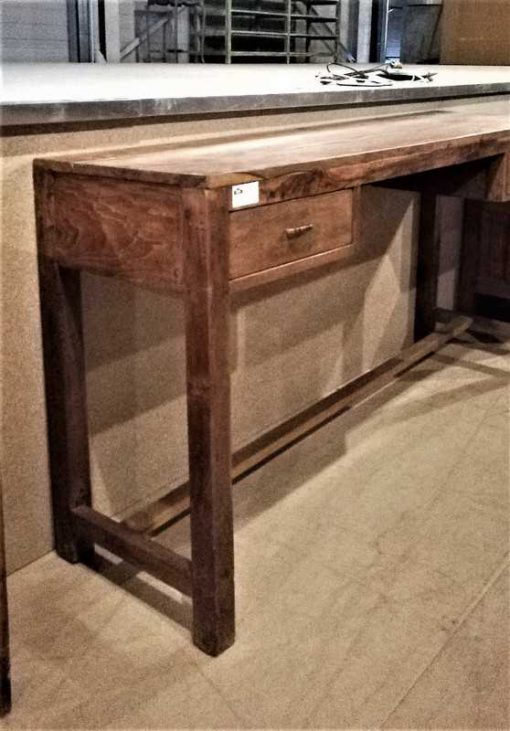 Antique teak sidetable with 2 drawers-2