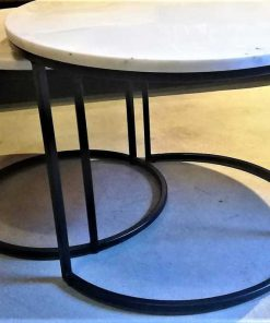 Set of 2 round coffee tables-1