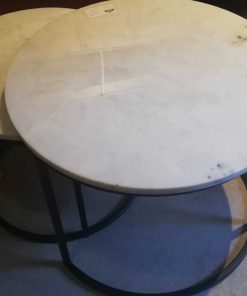 Set of 2 round coffee tables-2