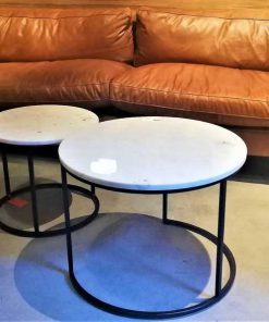 Set of 2 round coffee tables-4