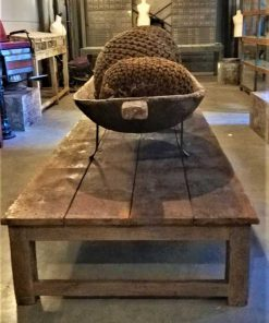 Large antique coffee table made of teak-1