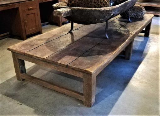 Large antique coffee table made of teak-2