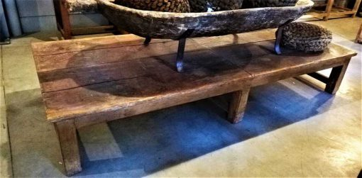 Large antique coffee table made of teak-3