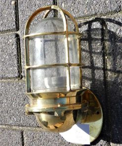 Vintage bronze ship lamp-1