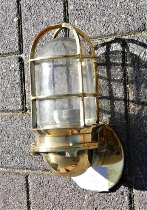 Vintage bronze ship lamp-1