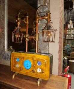 Unieke industriele lamp gemaakt van oude onderdelen-5