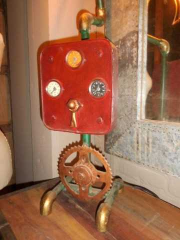 Unique industrial lamp made from old parts-2