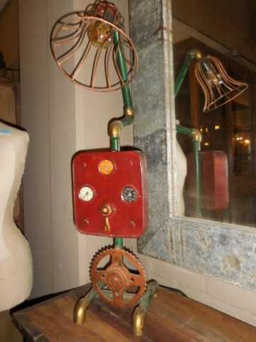 Unique industrial lamp made from old parts-4