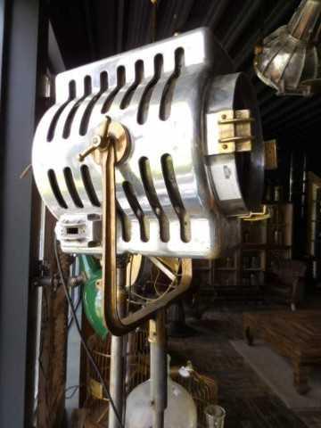 Opgeknapte industriele antieke lamp-3