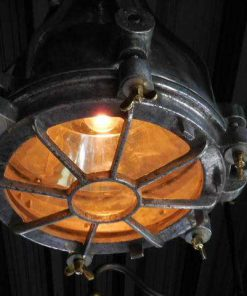 Antique refurbished industrial lamp-2