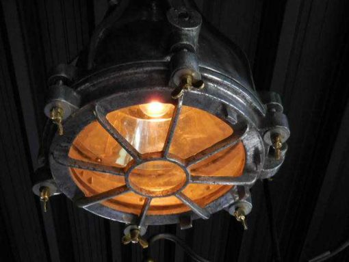 Antique refurbished industrial lamp-2