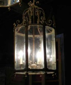 Large 6-sided bronze lantern / hanging lamp-1