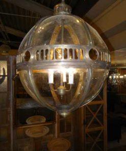 Round hanging lamp bronze-1