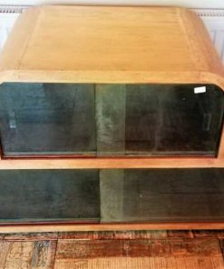 Antique Low Cabinet With Glass-1