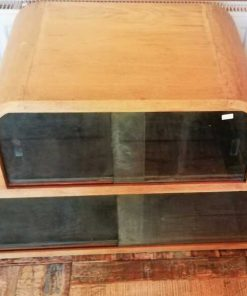 Antique Low Cabinet With Glass-2