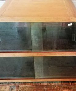 Antique Low Cabinet With Glass-3