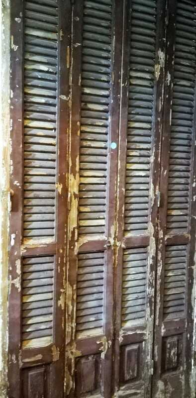 Antique Louvre Shutters / Doors In Frames-2
