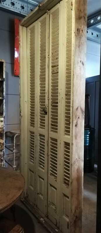 Antique Louvre Shutters / Doors In Frames-3
