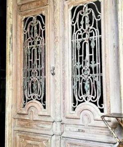 Antique French Style Outside Doors With Bronze-1