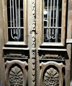 Antique Outside Door With Wrought Iron Ornamental Fence-3
