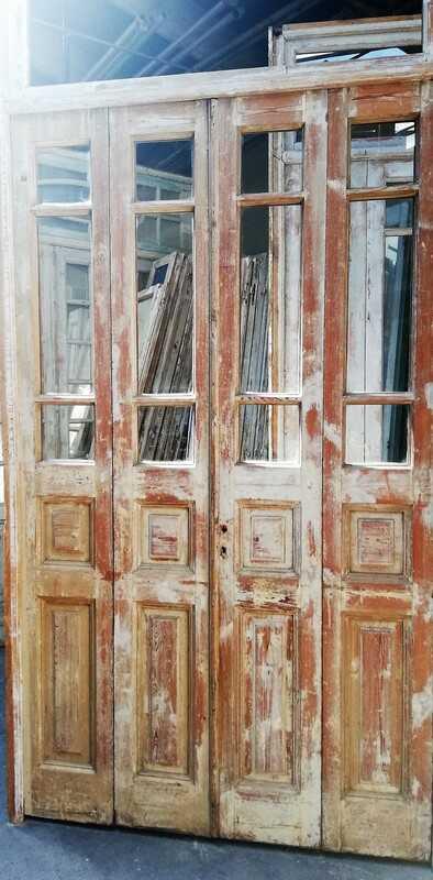 Antique 4-stroke Doors / Orangery Door With Glass-2
