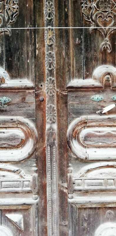 Antique Wooden Outside Doors-4