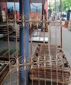 Antique wrought iron ornamental fence - 1