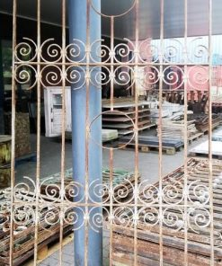 Antique wrought iron ornamental fence - 2
