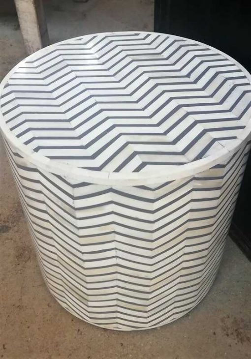 White / Grey Side table - 1