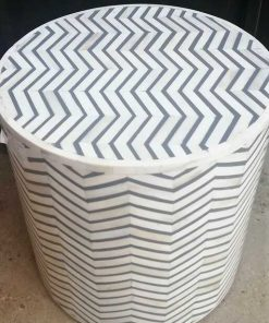 White / Grey Side table - 2