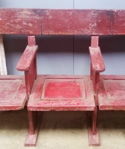 Vintage Red Cinema Bench - 1